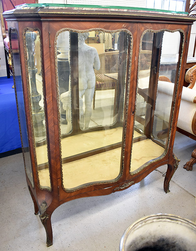 100. Louis XV-style Curio Cabinet. $276.75