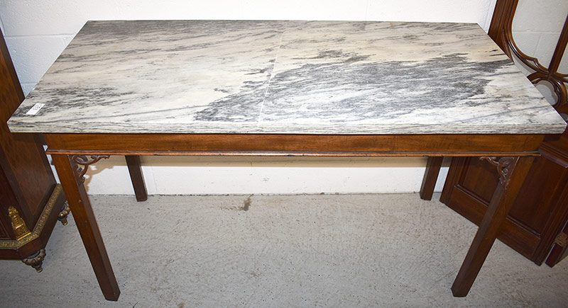102. 19th C. Continental Slab Table. $10,455