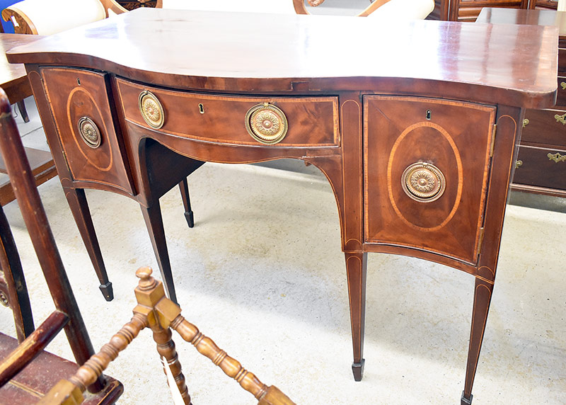 103. Georgian Mahogany Sideboard. $461.25