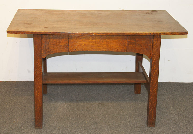 105. L & J.G. Stickley Arts & Crafts Oak Library Table. $472.00