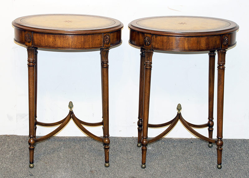 106. Pair of Maitland Smith Federal-style Tables. $522.75