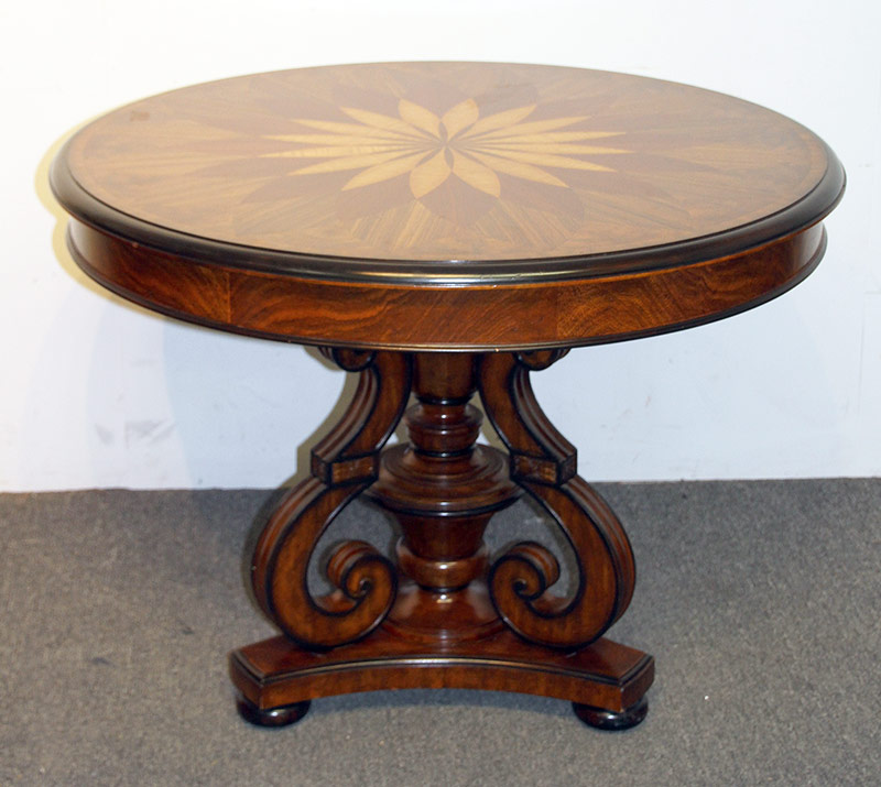 107. Maitland Smith Regency-style Center Table. $984