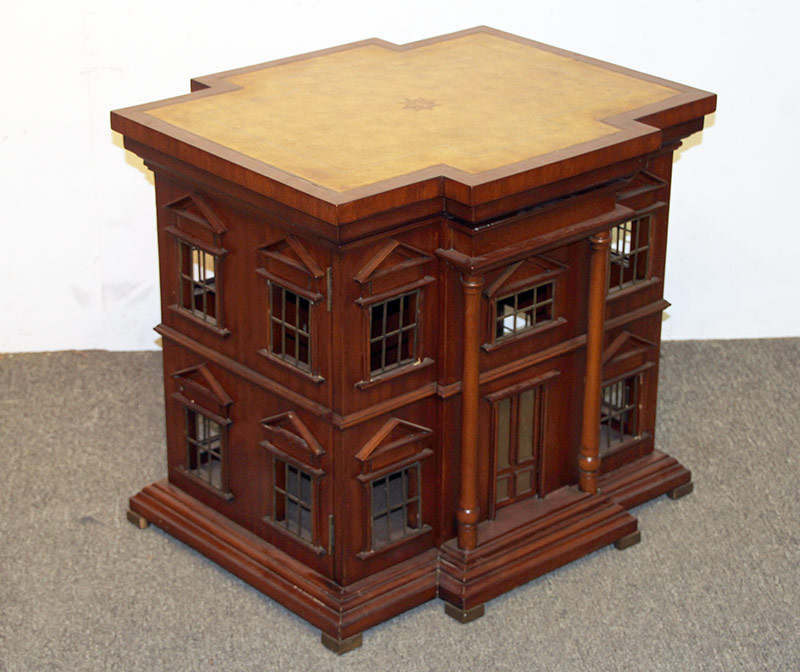 109. Maitland Smith Georgian-style Dollhouse Side Table. $1,845