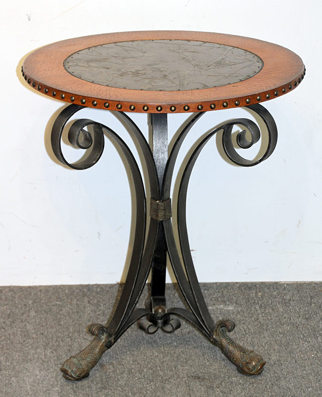 110. Maitland Smith Regency-style Side Table. $276.75