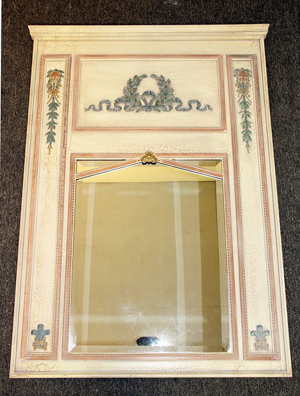 114. French-style Painted Trumeau Mirror, 20th C. $123