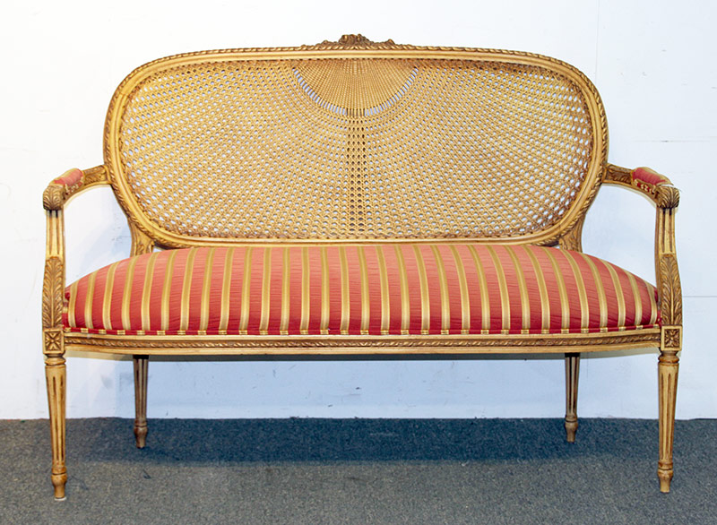 120. Louis XVI-style Salon Settee, 20th C. $215.25