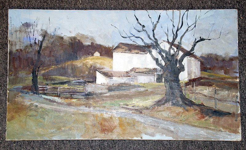 130. Joseph Casalane. Oil/Canvas, Farm Landscape. $118