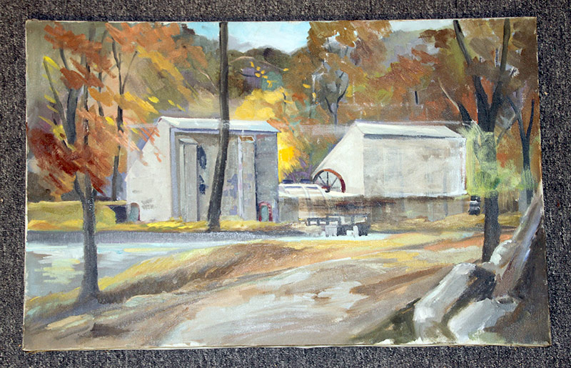 131. Joseph Casalane. Oil/Canvas, Gunpowder Mill. $35.40