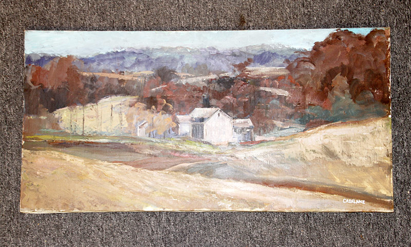 132. Joseph Casalane. Oil/Canvas, Farm Landscape. $70.80