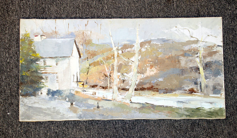133. Joseph Casalane. Oil/Canvas, Winter Landscape. $98.40