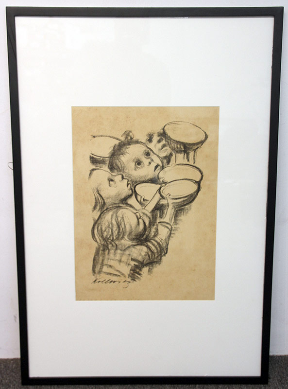 137B. Kathe Kollwitz. Lithograph, Germany\'s Children. $461.25