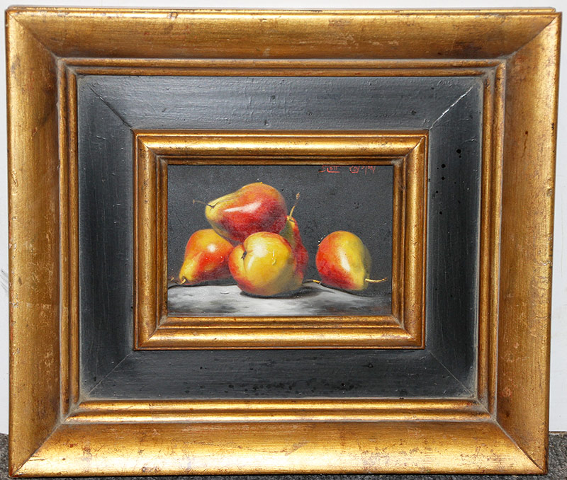 140. Scott Royston. Oil/Panel, Still Life of Pears. $147.50