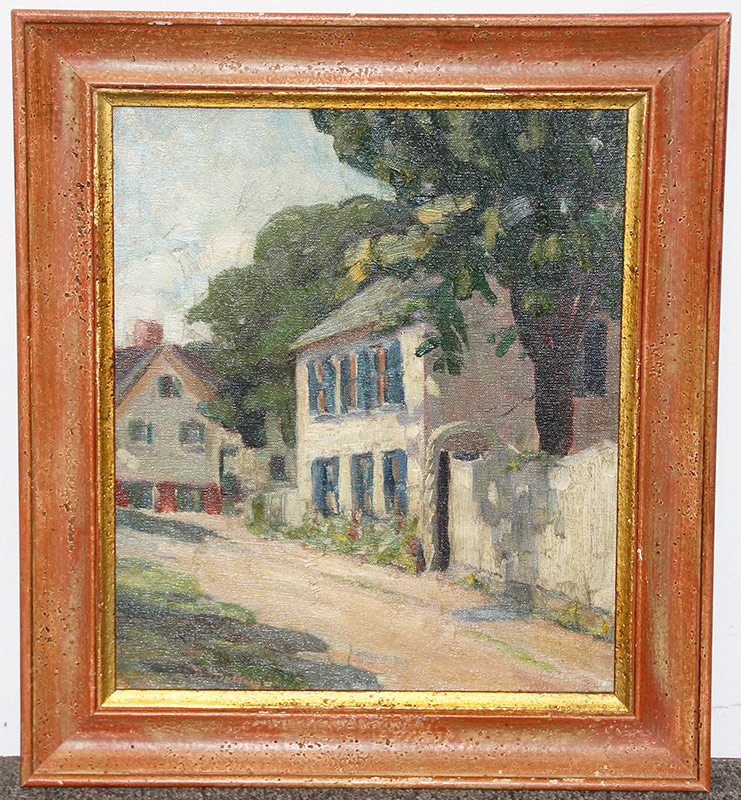 143. D. Maloney. Oil/Panel, Landscape. $147.50