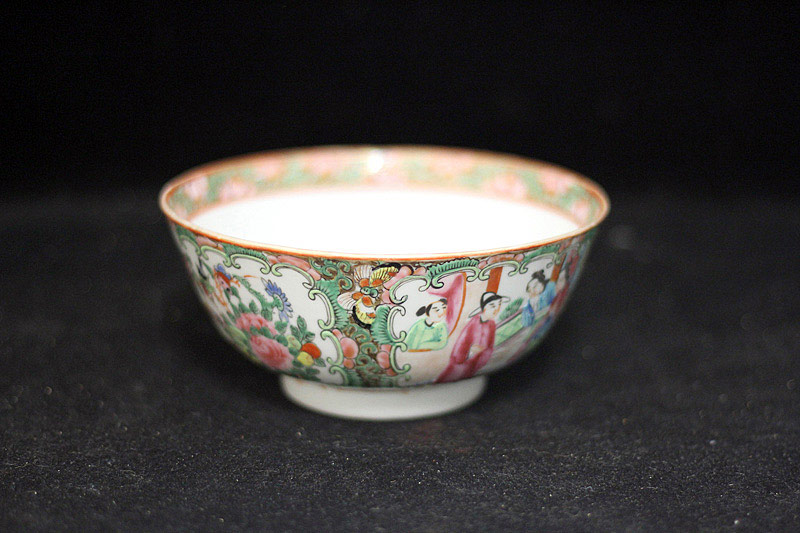378. Chinese Export Rose Medallion Porcelain Bowl. | $35.40