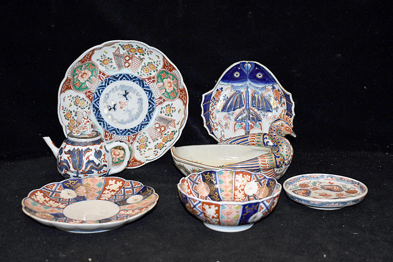 414. Seven Pieces of Japanese Imari Porcelain. | $61.50