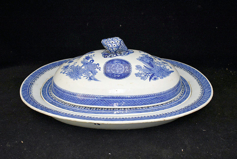 416. Chinese Canton Porcelain Tureen w/Strainer Insert. | $354