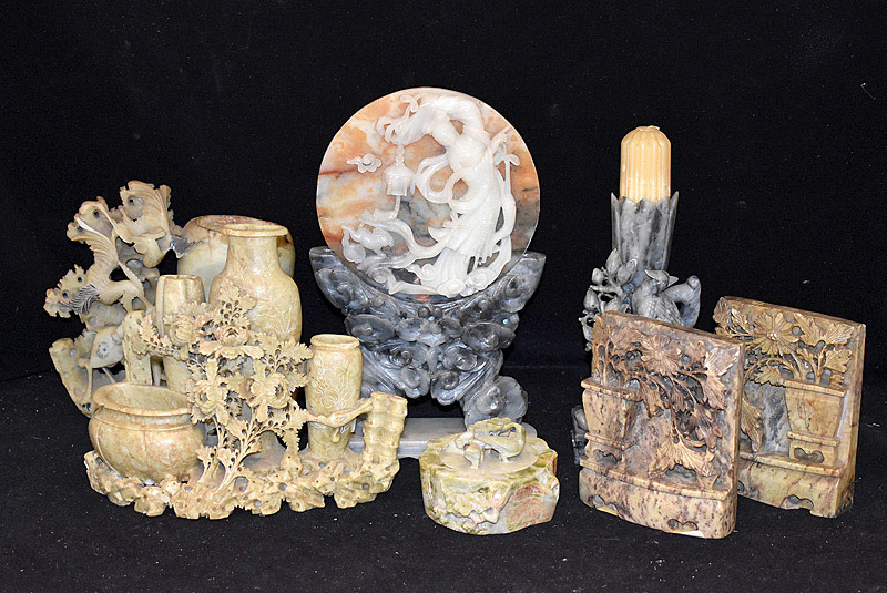 427D. Collection of Seven Soapstone Articles. | $59