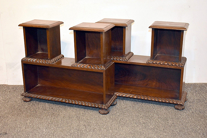 430. Pair of English Mahogany Display Shelves. | $94.40