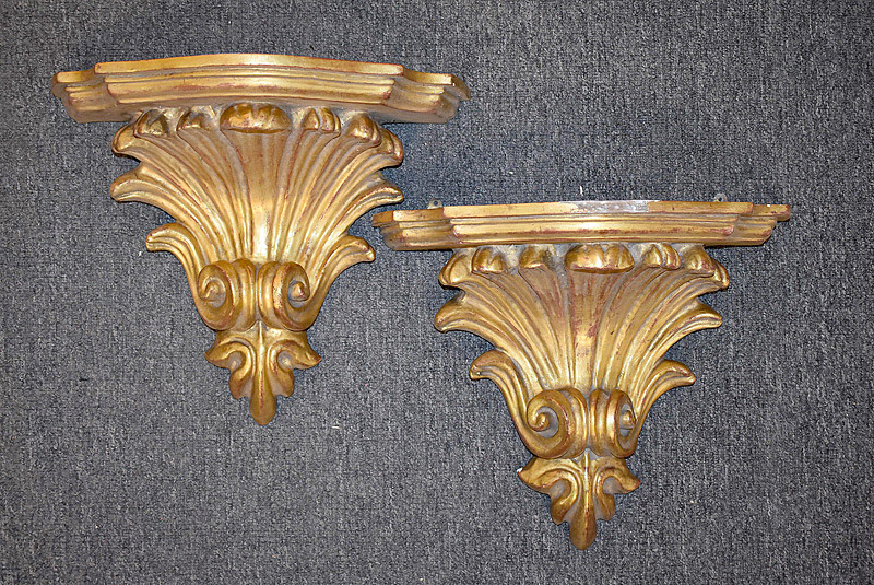 435. Pair of Classical Gilt Wall Brackets. | $153.75