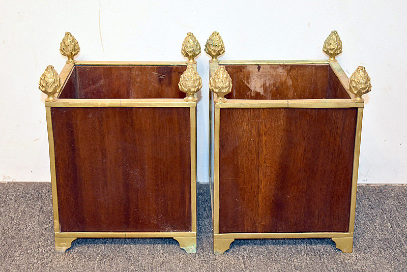 439. Pair of Continental Bronze Mounted Jardinières. | $1,298
