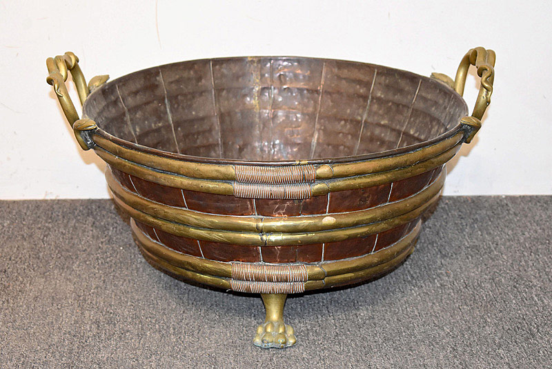 441. 19th C. English Copper and Brass Jardinière/Bucket. | $461.25