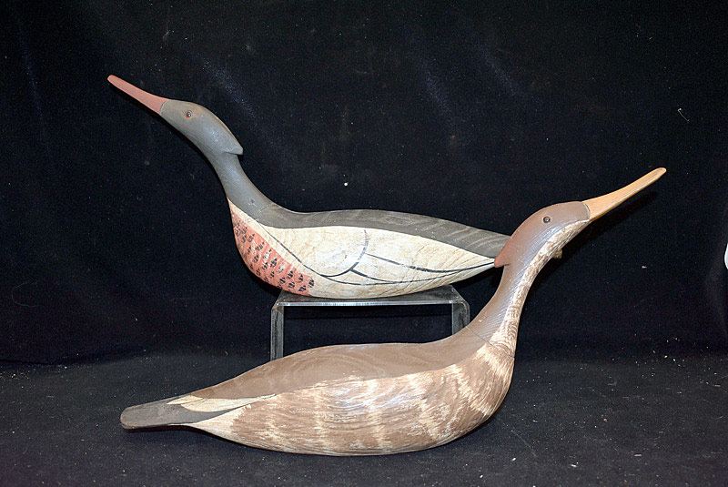 459. Pair of Merganser Decoys. | $118