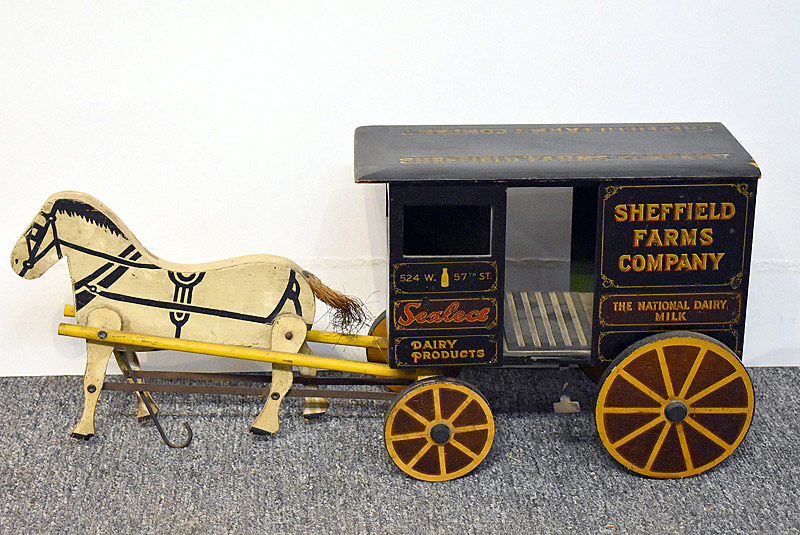464. Sheffield Farms Horse-Drawn Milk Wagon. | $295