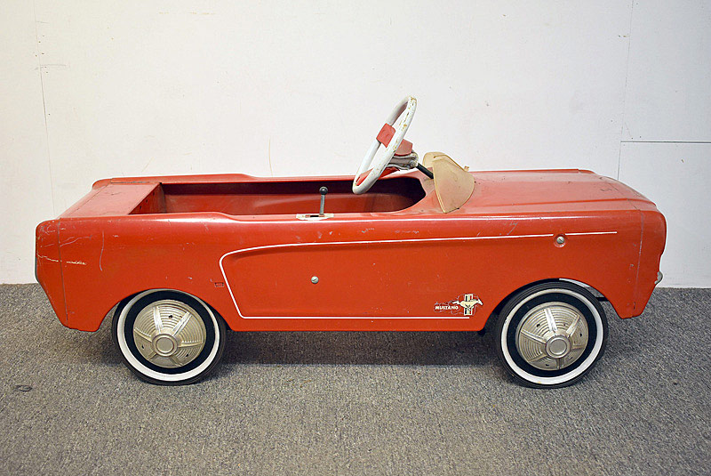 468. Red Ford Mustang Convertible Pedal Car. | $553.50