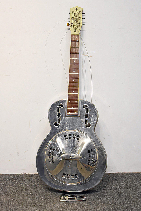 470. A Steel Resonator Guitar. | $861