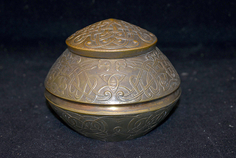 471. Marshall Field & Co. Arts & Crafts Bronze Inkwell, (1905-1910). | $236
