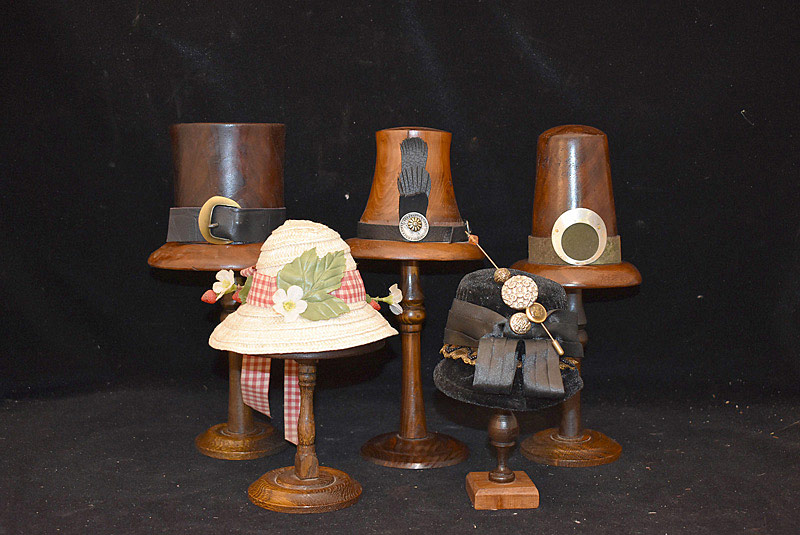486. Five Turned-Wood Doll Hat Blocks. | $70.80