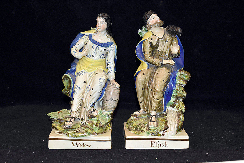 490. Staffordshire Figures of Elijah and Widow. | $110.70
