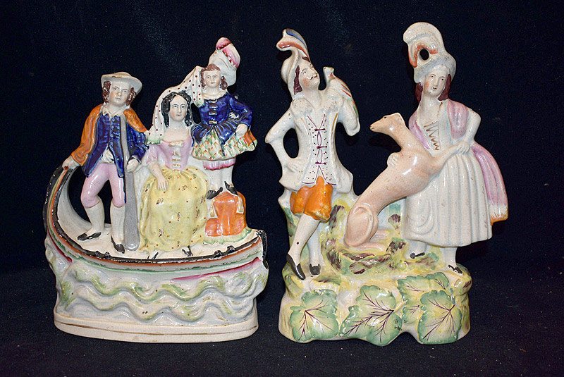 493. Two Staffordshire Figural Groupings. | $70.80