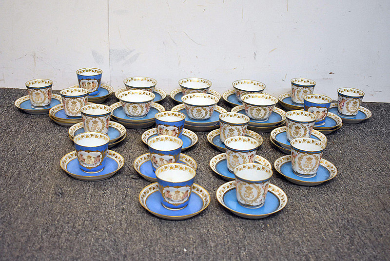 506. Sevres Porcelain Cups and Saucers Grouping. | $2,091