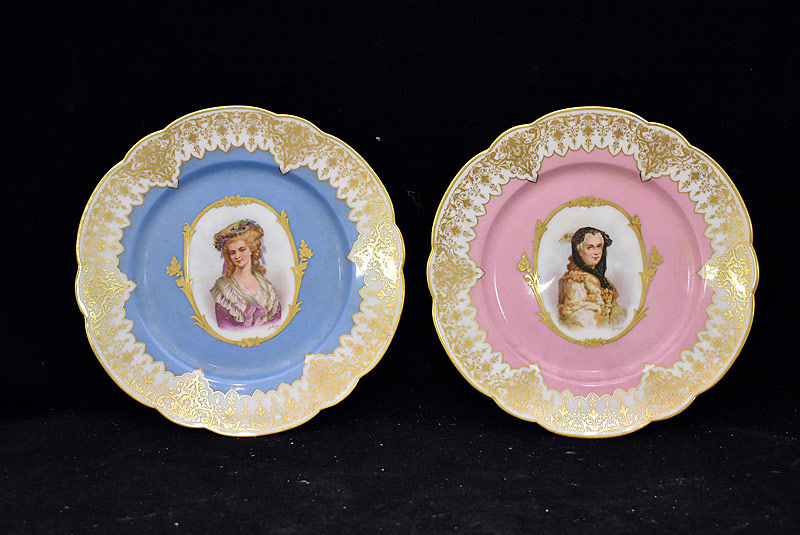 508A. Pair of Sevres Porcelain Cabinet Plates. | $184.50