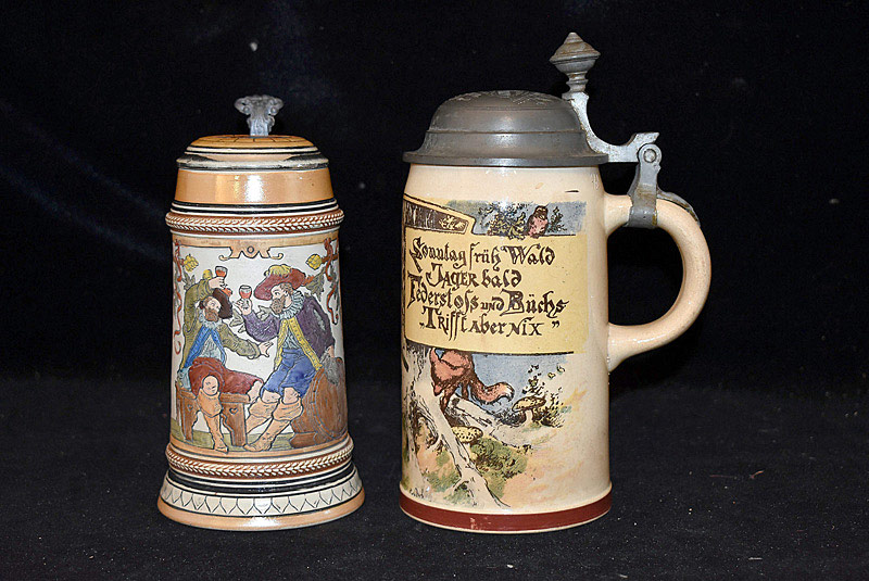 513. Grouping of Two German Steins. | $98.40