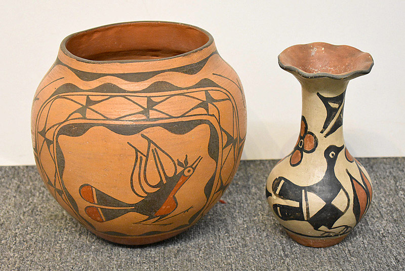 526. Two Native American Pottery Vessels. | $177