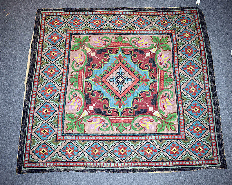 531. 19th C. Colorful Hooked Rug. | $215.25