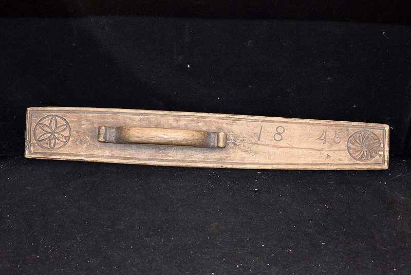 552. 1846 Carved Smoothing Board. | $123