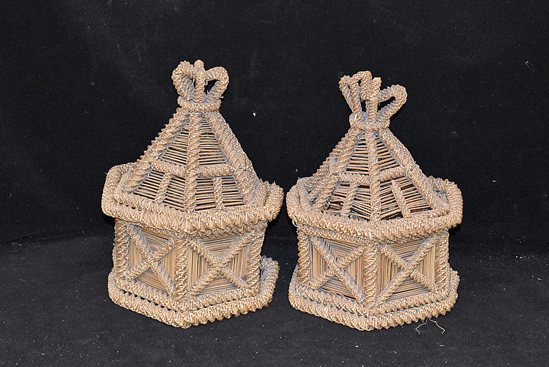 557. Pair of 18th C. Continental Lidded Baskets. | $47.20