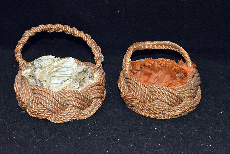563. Two Sailor Knot Baskets. | $47.20