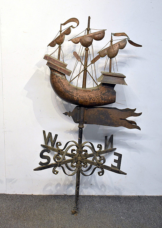 566. Galleon Ship Weathervane. | $1,045.50