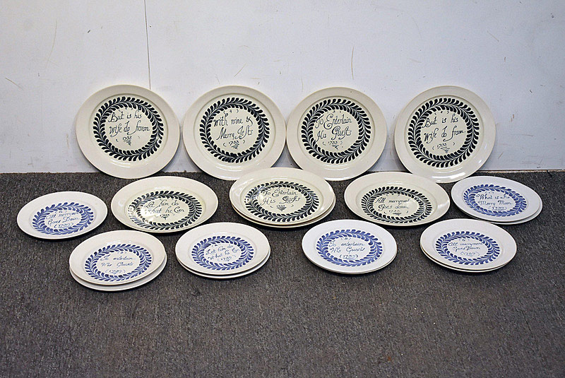 572. Collection of Merry Man-style Delft Plates. | $47.20