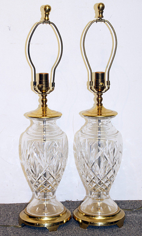 584A. Pair of Waterford Crystal Table Lamps. | $153.75