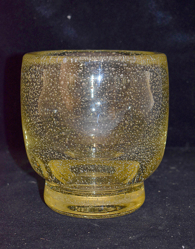 588. Daum Nancy Bubble Glass Vase. | $106.20