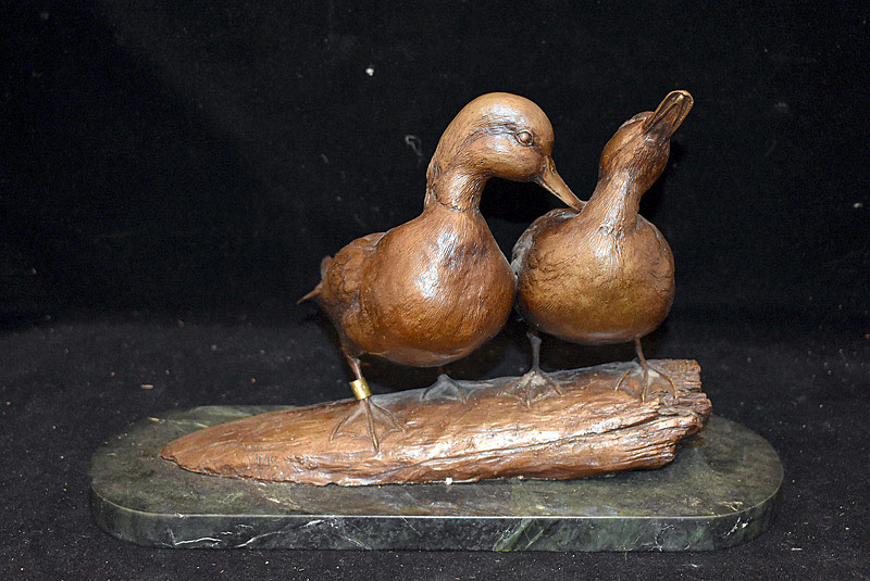 "596. Bronze Sculpture of Ducks, signed ""Eric\"", 1976, #4/10. 