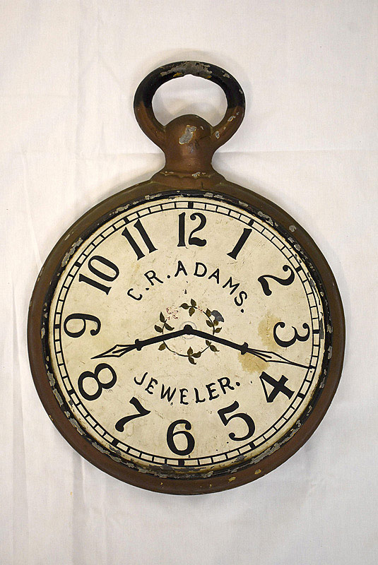 612. 19th C. Pocket Watch Trade Sign. | $676.50