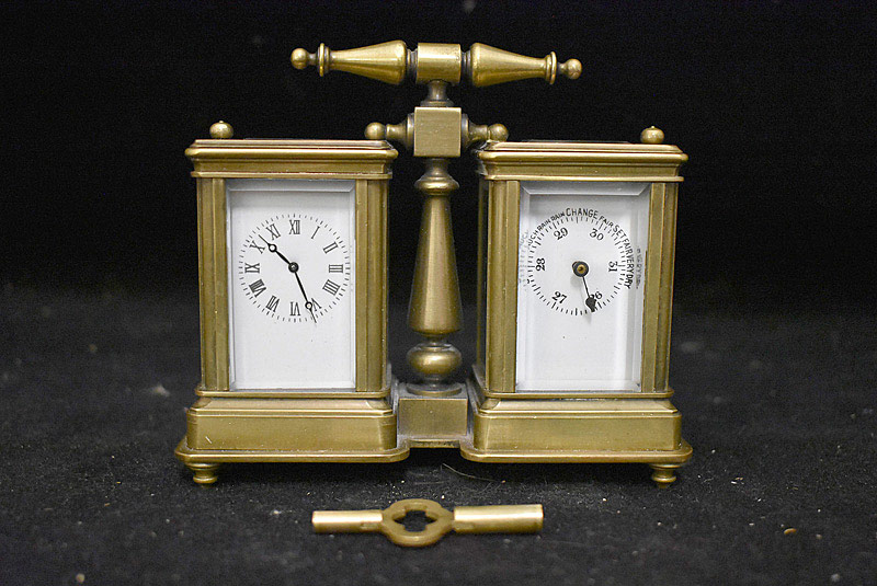 614. Miniature Double Carriage Clock. | $236