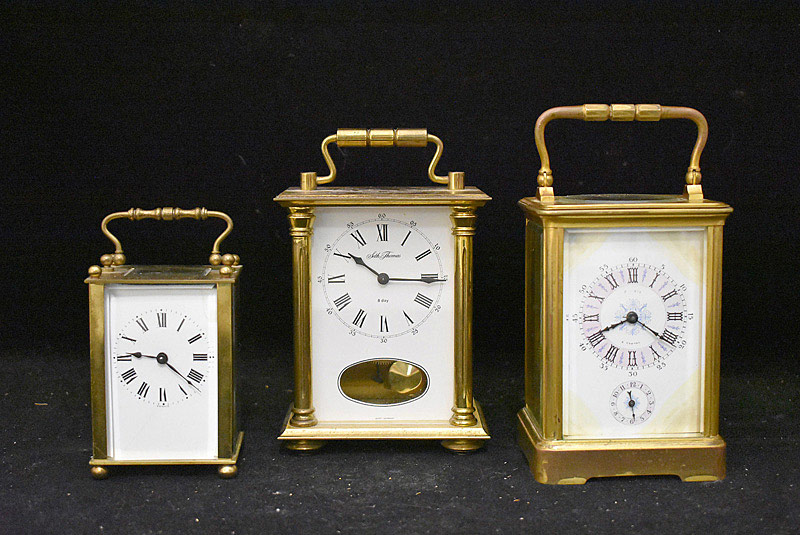 616. Three Carriage Clocks. | $265.50