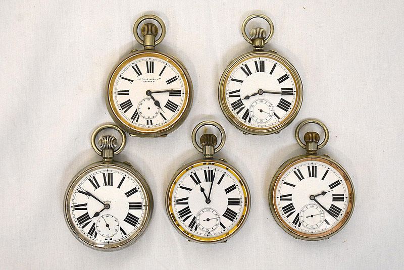 619. Five Large Pocket Watches. | $442.50